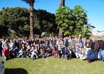 Encontro Regional de Presbíteros em Foz do Iguaçu. Evento reuniu 128 padres do estado